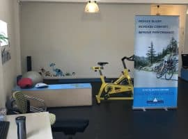 Balance Performance Physiotherapy Facility: our waiting and reception area currently an exercise area