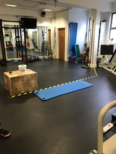 Balance Performance Physiotherapy Facility: our gym space is now zoned to ensure appropriate distancing if exercise is necessary during physiotherapy sessions